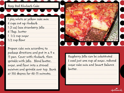Rhubarb cake recipes jello