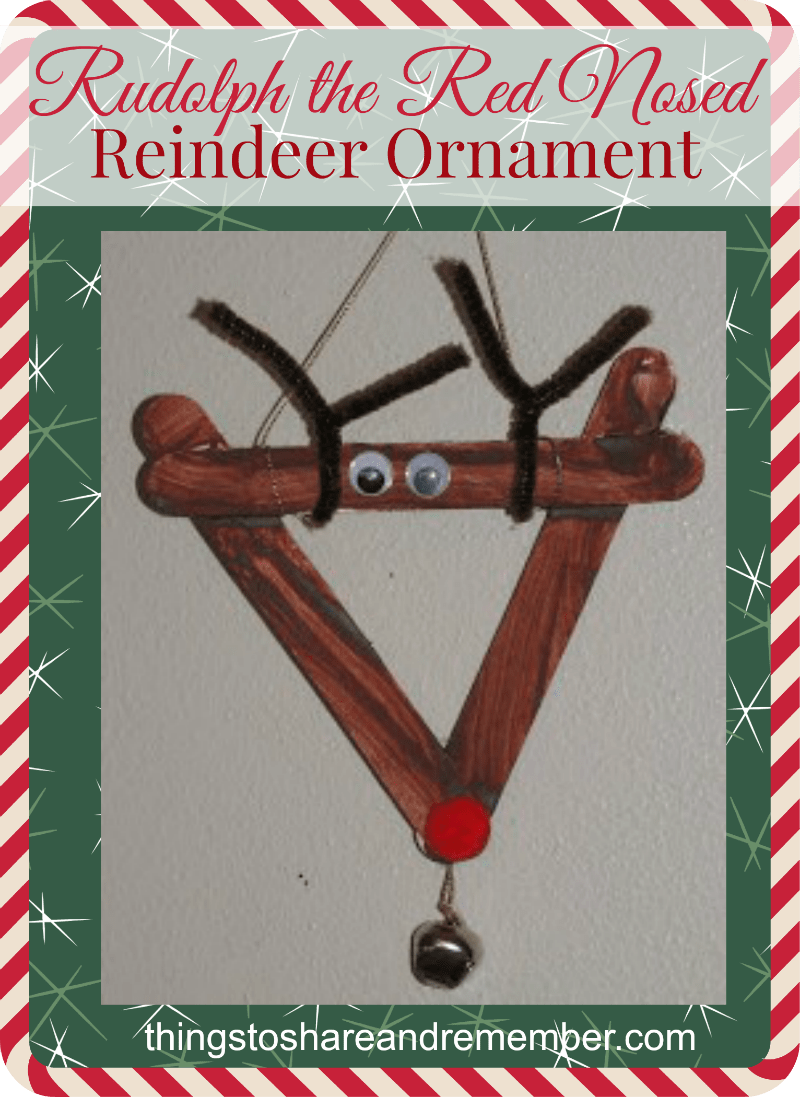 Rudolph the Red Nosed Reindeer Ornament - Share & Remember