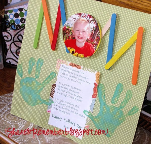 Mother 39 s day projects for preschoolers for Mother s day projects for preschoolers