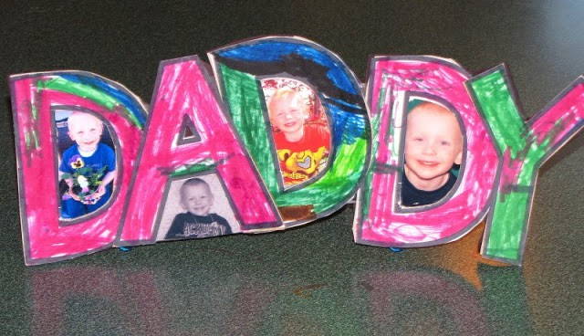 Father's Day Crafts - DADDY Frame