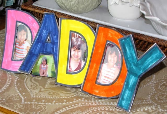 Father's Day Crafts DADDY frame