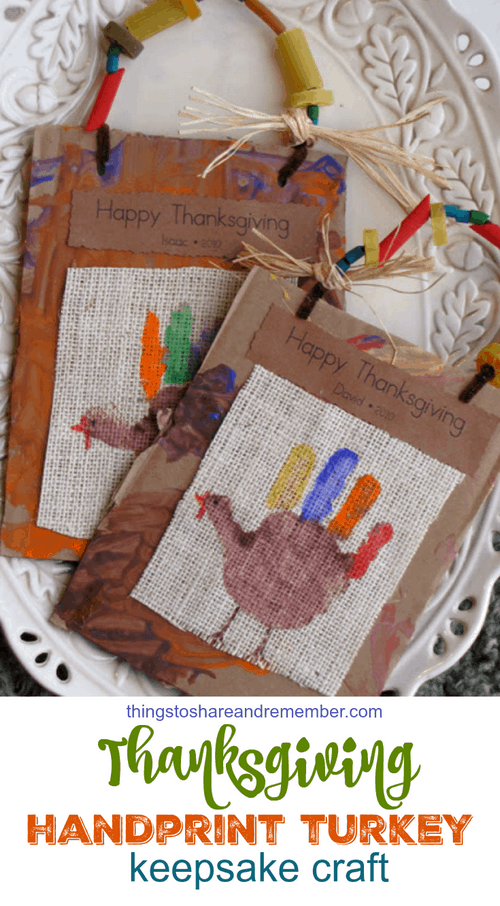 Thanksgiving Handprint Turkey Keepsake Craft