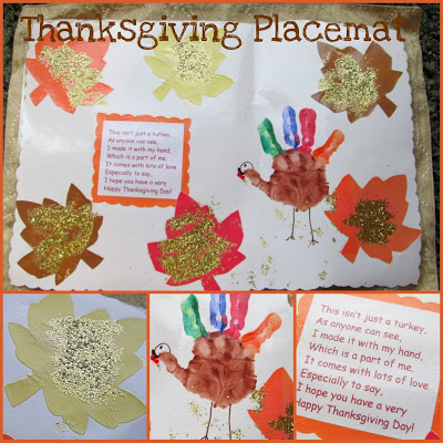 Turkey Hand Print Placemat