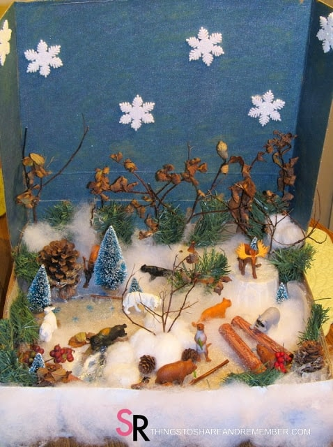 It's Winter in the Woods Play Set in a Box