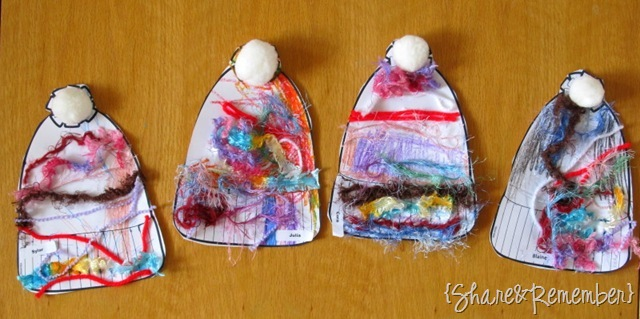 Cozy Winter Hats Hats2 Preschool Art Project