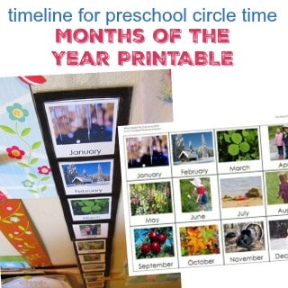 MONTHS OF THE YEAR PRINTABLE TIMELINE FOR PRESCHOOL CIRCLE TIME