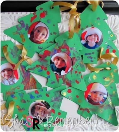 Paper Tree Photo Ornaments