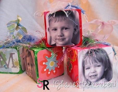 DIY Wood Block Photo Ornaments