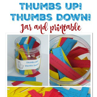 Thumbes Up Thumbs Down Jar and Printable