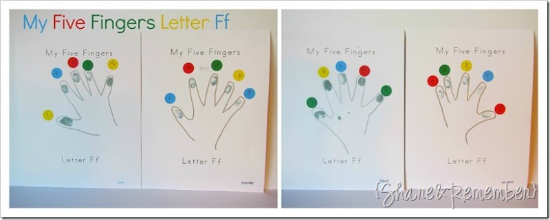 Letter Ff My Five Fingers {printable}