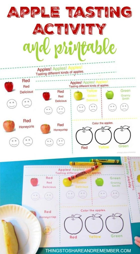 Apple Tasting Activity & Printable