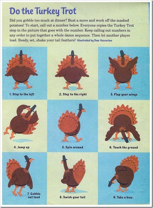 Turkey Trot Thanksgiving Movement Activity