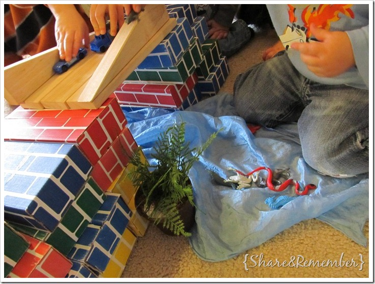 Bridge Building With Blocks Kids A Cardboard And Wood