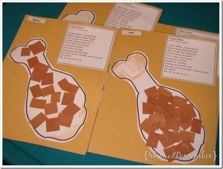 Turkey Dinner Song & Craft Printable