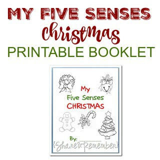 My Five Senses Christmas Printable Booklet
