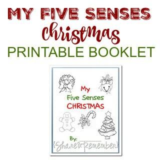 My Five Senses Christmas Printable Booklet
