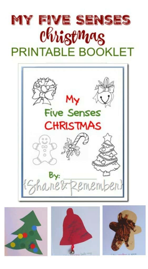 My 5 Senses Christmas Printable Booklet