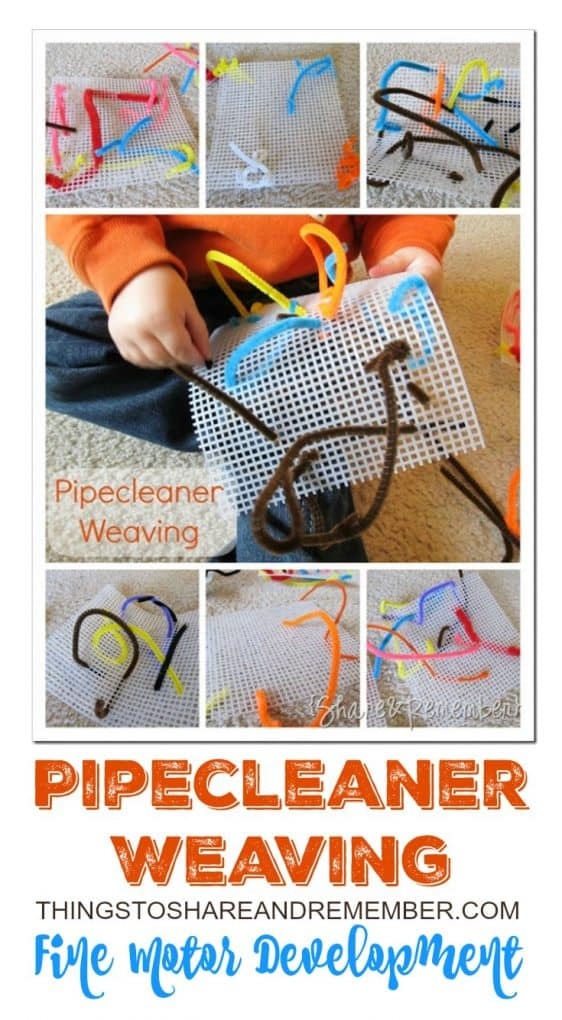 Pipecleaner Weaving Fine Motor Development