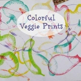 colorful veggie prints