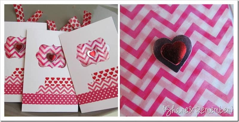 Washi Tape Valentine Cards