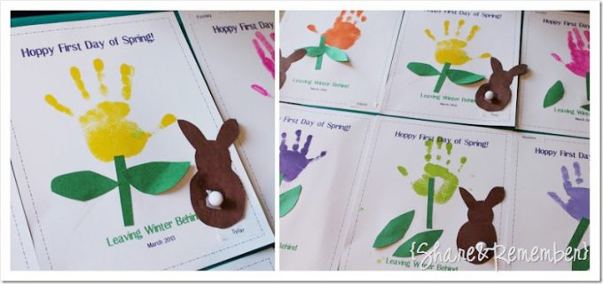 Spring Easter Preschool Handprint Art