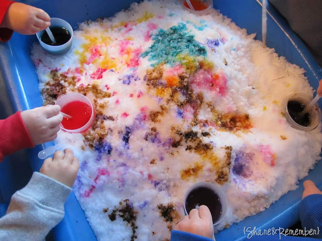 Coloring Snow Sensory & Fine Motor Play
