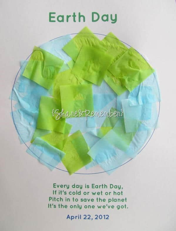 Tissue Paper Earth Day Printable