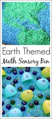 Earth-Day-themed-preschool-math-sensory-bin