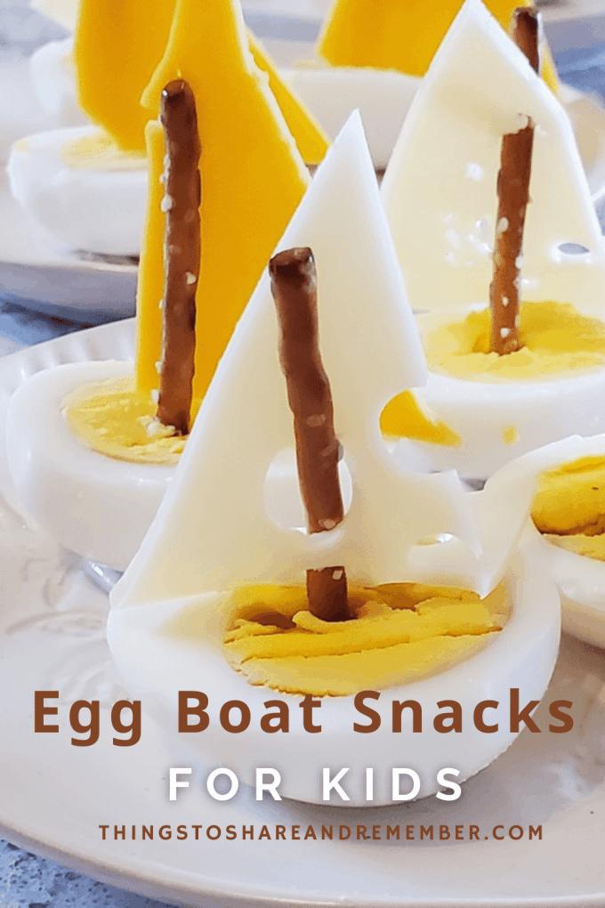 Egg Boat Snacks For Kids