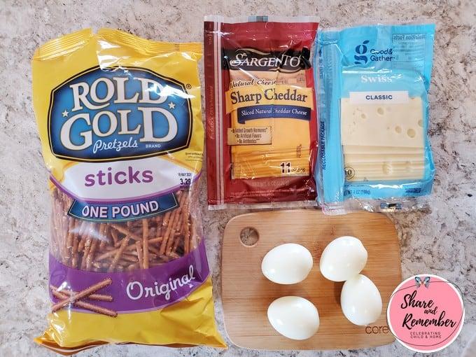 Egg Boat Snacks ingredients.
