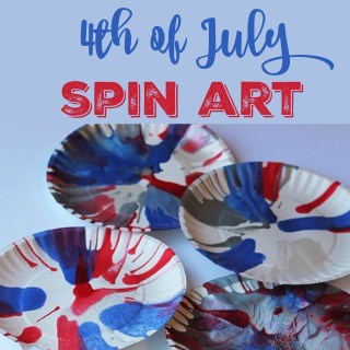 4th of July Spin Art
