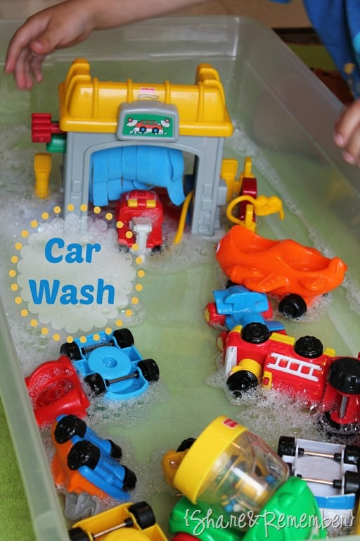 car wash sensory play