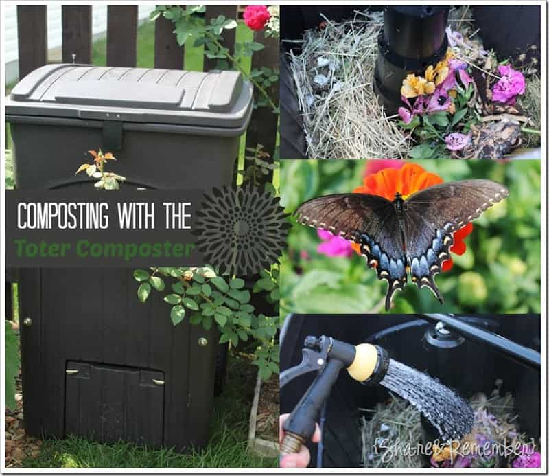 Composting with the Toter Composter #sponsored