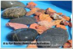 water and rocks sensory play