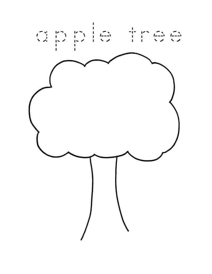 printable apple tree template with words