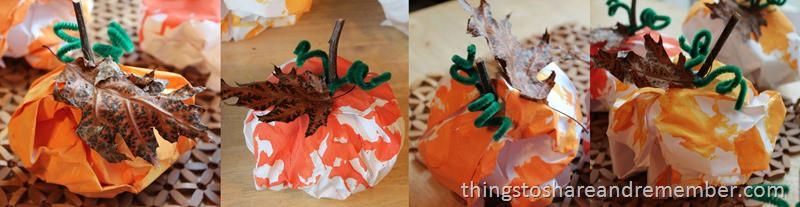 4 Paper Pumpkins