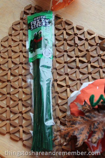 Craft Project Ideas.com Green Fuzzy Sticks
