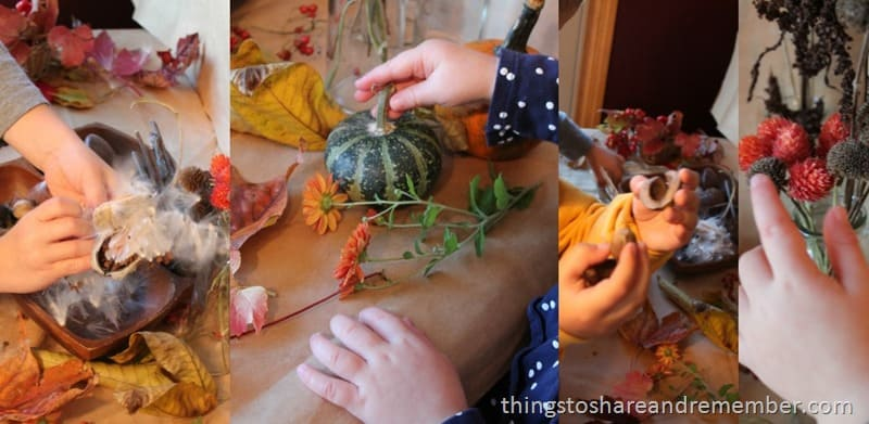 Hands on Fall Nature Table