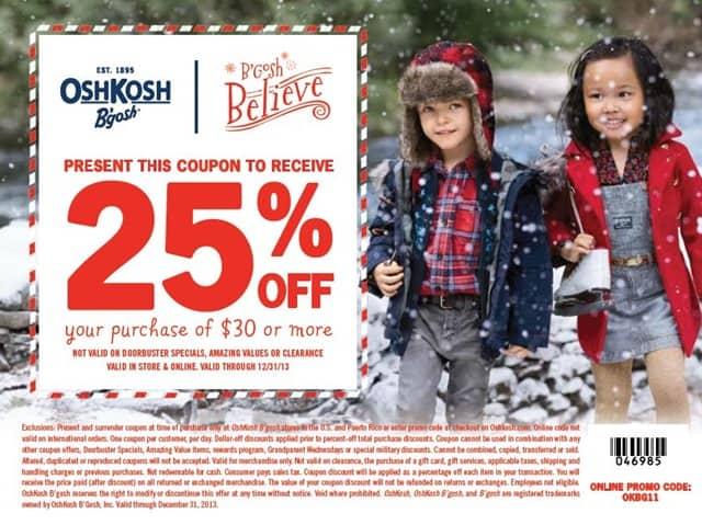 Oshkosh B'gosh coupon