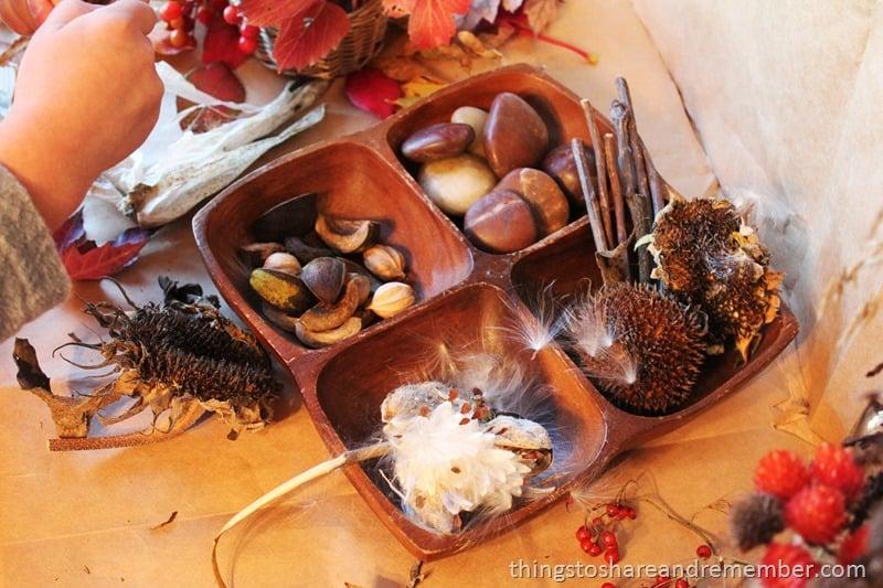 Preschool Hands on Nature Table