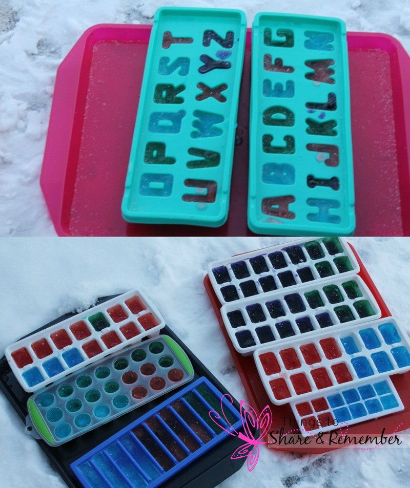 Alphabet Ice Painting