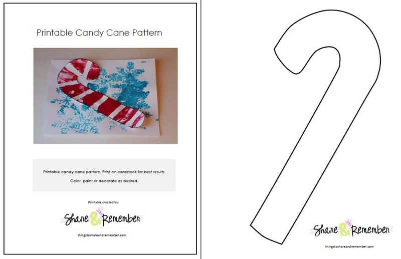 Candy Cane Preschool Crafts and Pattern