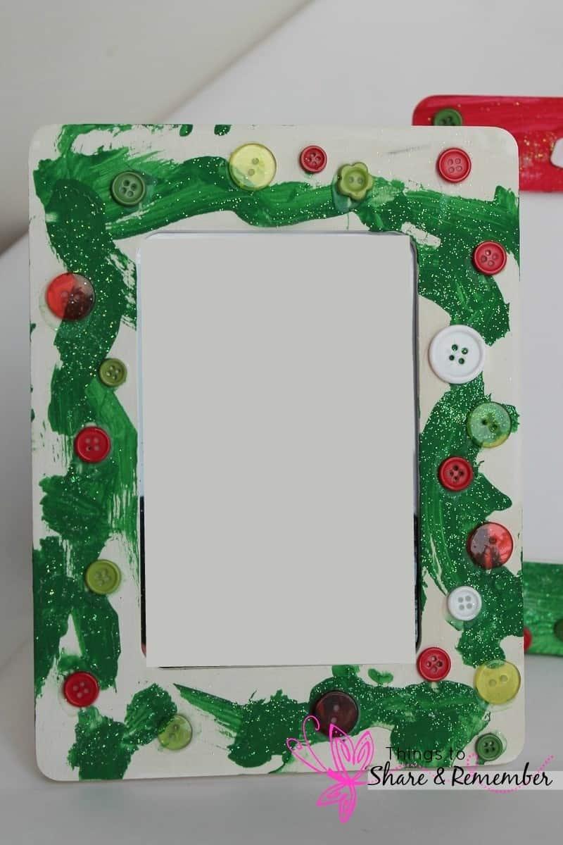 Christmas Button Frames