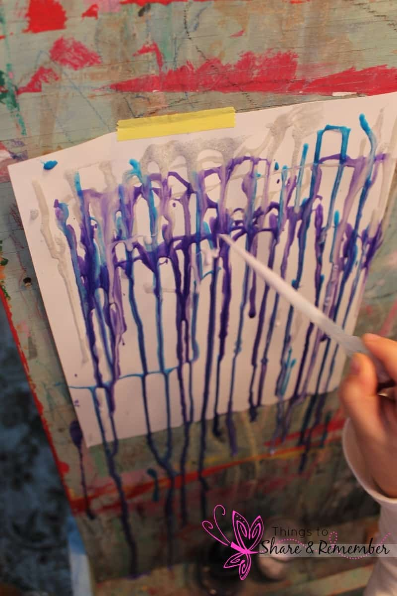 Icicle Drip Painting