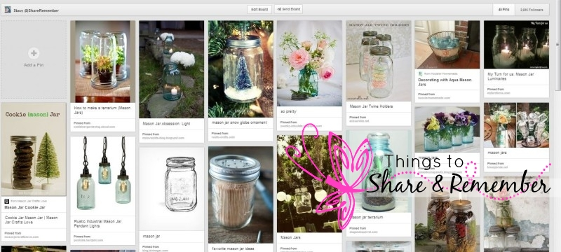 Mason Jar Obsession Pinterest Board