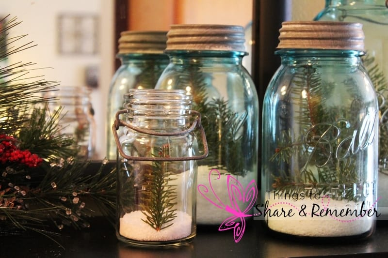 Simple Winter Decor with Mason Jars
