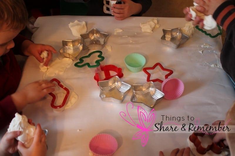 Snowflake Play Dough