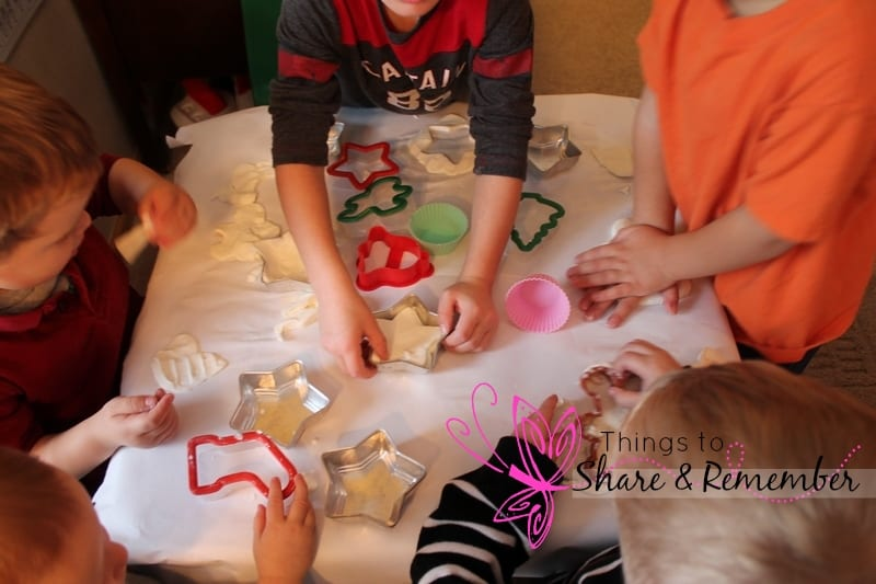 Snowflake Play Dough