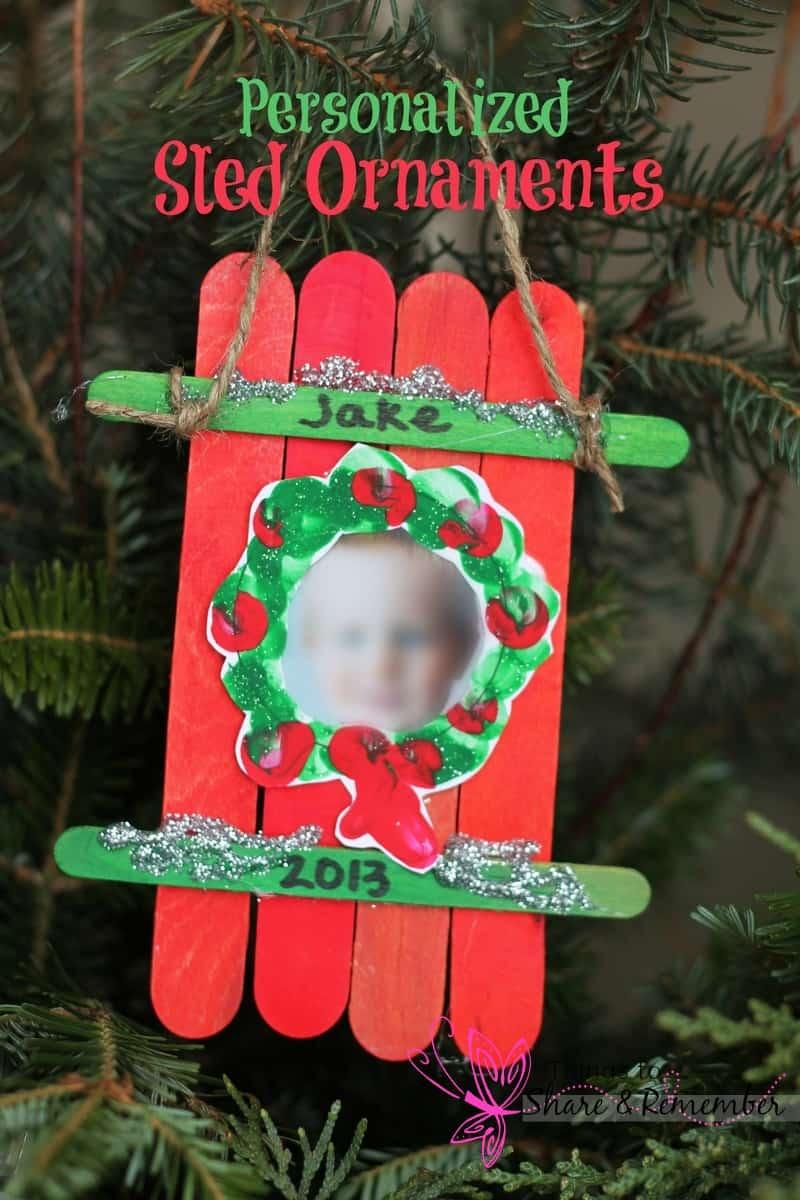 Christmas Ornament Craft Ideas Preschoolers : Sled craft ornament
