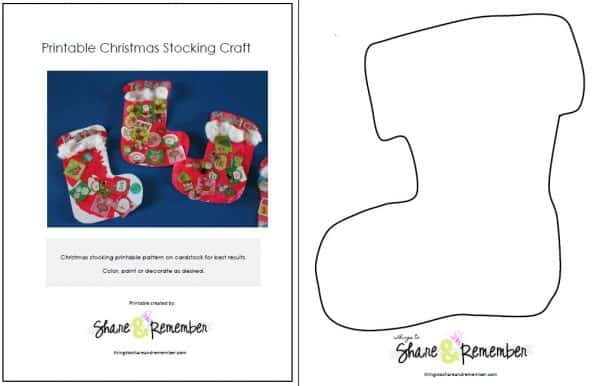 photo relating to Christmas Stocking Printable named Xmas Stocking Craft and Printable Habit